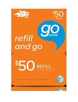 $50 GoPhone Refill Card