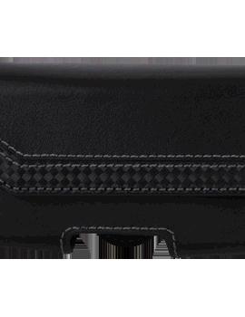 Black Leather Horizontal Case - Small Universal
