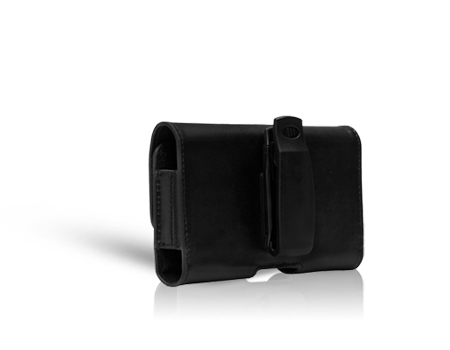 AGF Black Leather Horizontal Case - Large Universal