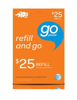 $25 GoPhone Refill Card