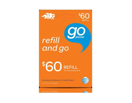 $60 GoPhone Refill Card