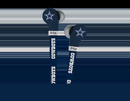 Zeikos FlatCord Earbuds NFL Dallas Cowboys