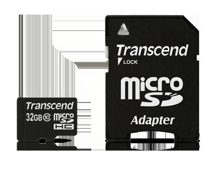 Memory Transcend Class 10 Card