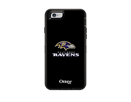 OtterBox Defender Series NFL Baltimore Ravens Case and Holster - iPhone 6/6s