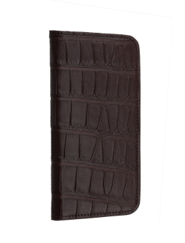 Alligator Wallet Folio - Brown