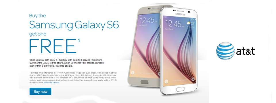 AT&T - FREE Samsung Galaxy S6 - Valentine Day Coupon