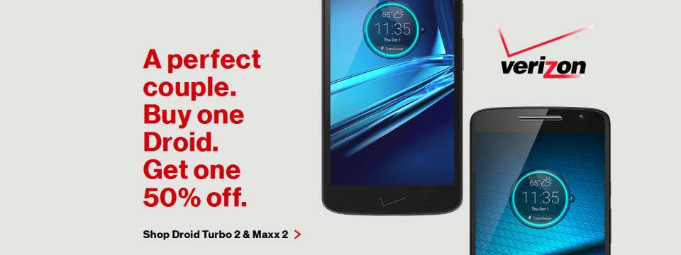 Verizon - Droid Buy One Get another 50% Off - Valentine Day Coupon