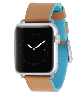 Edged Leather Band - Brown & Blue