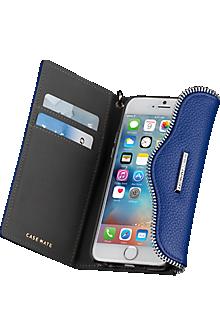 Leather Folio Wristlet for iPhone 6/6s  - Cobalt