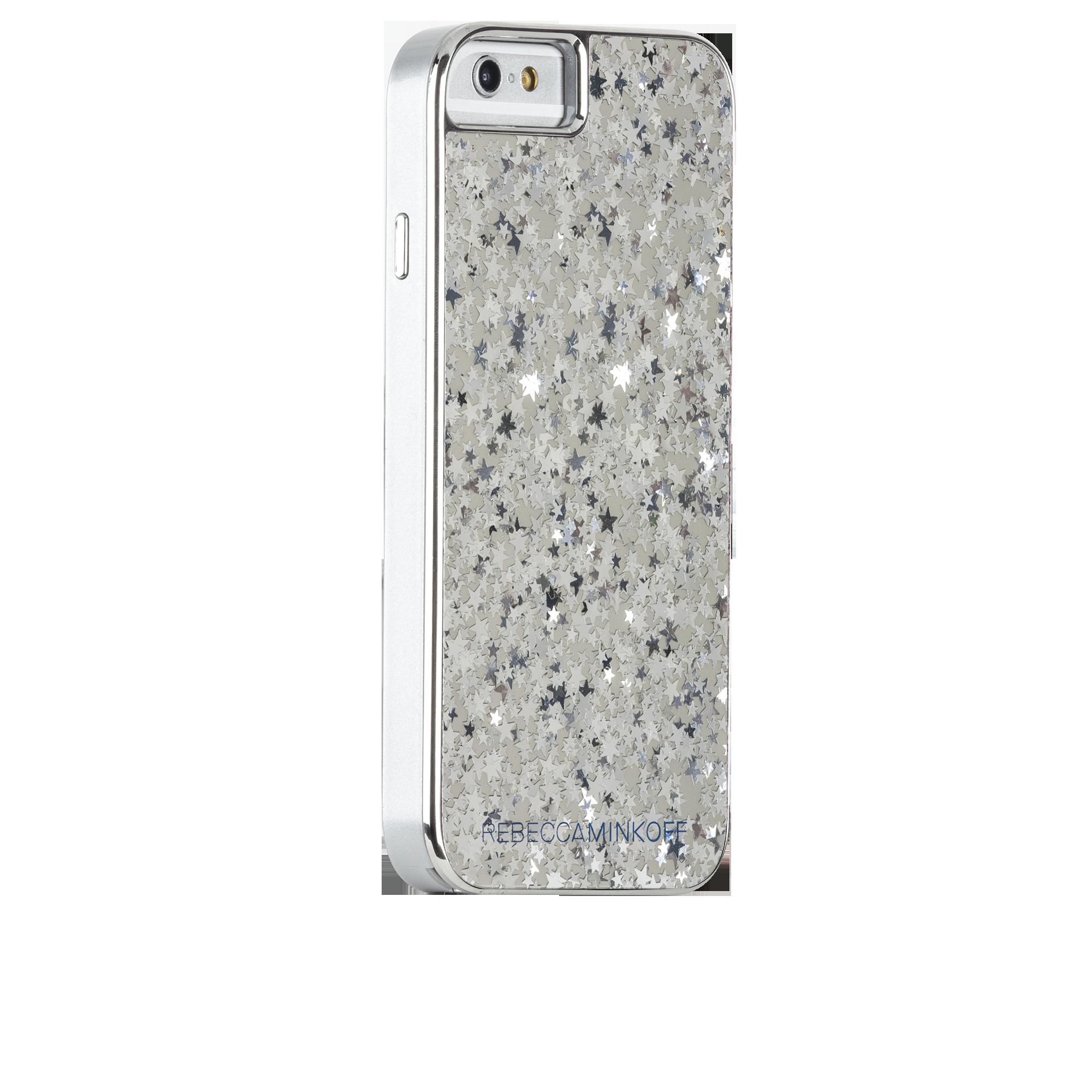 Rebecca Minkoff Glitter Case - Silver Stars