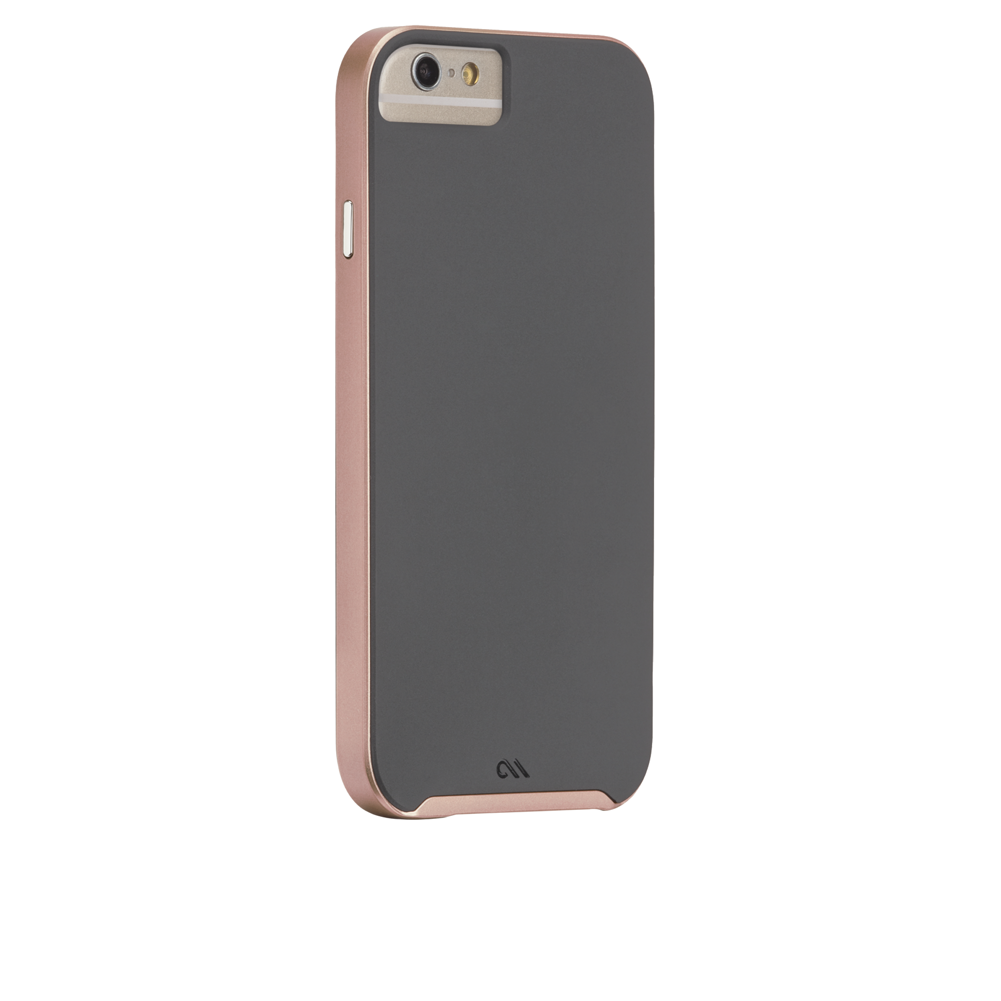 Slim Tough Case - Dark Grey & Rose Gold