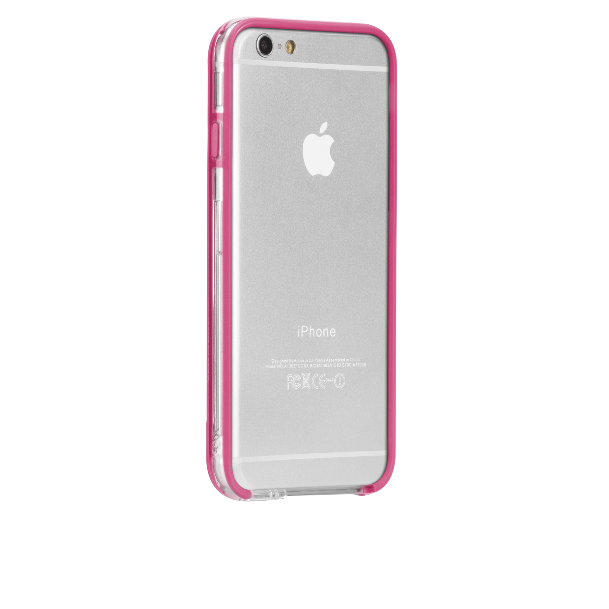 Tough Frame Case - Clear & Pink