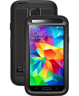 Samsung Galaxy S5 OtterBox Defender Series Case - Black