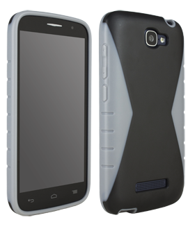 Alcatel OneTouch Fierce 2 Iceberg Protective Cover - Black & Grey
