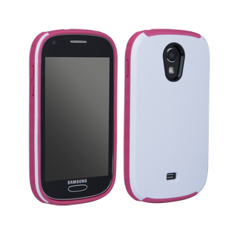 Samsung Galaxy Light Ridge Protective Cover - White & Pink