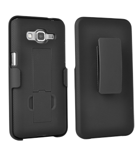 Samsung GALAXY GRAND Prime Kickstand Shell with Holster - Black