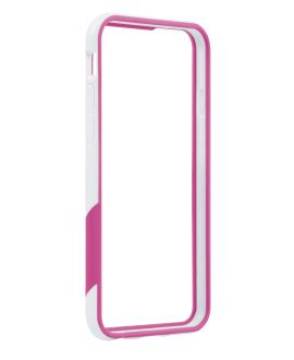 iPhone 6 TAVIK Outer Edge Bumper Case - White & Magenta