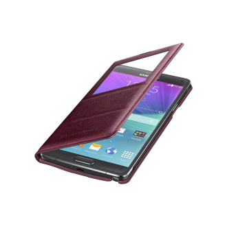 Samsung Galaxy Note 4 S-View Flip Cover - Electric Plum