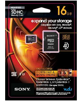 SONY microSDHC High Speed CL10 Memory Card - 16 GB
