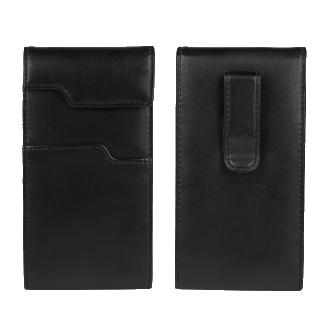 Smartphone Universal Leather Case - Black