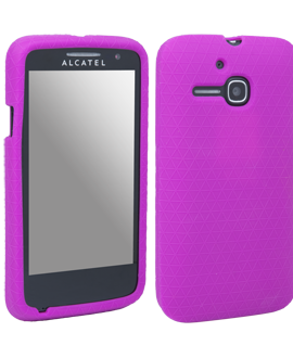 Alcatel OneTouch Evolve Gel Skin - Purple