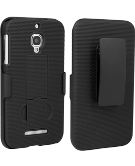 Alcatel OneTouch Fierce Shell/Holster Combination - Black