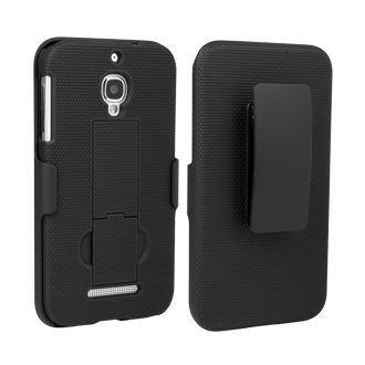 Alcatel OneTouch Fierce Shell/Holster Combination - Black