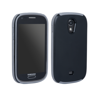 Samsung Galaxy Light Ridge Protective Cover - Black & Grey
