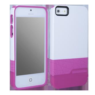 iPhone 5 Body Glove Diamond Case - White & Pink