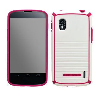 Nexus 4 from Google Body Glove Nova Cover - White & Raspberry