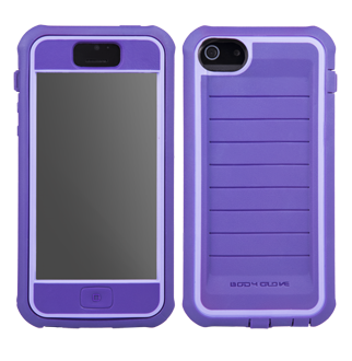 iPhone 5 Body Glove Shocksuit Case - Plum with Lavender