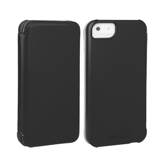 iPhone 5 D3O Impact Snap Case with Cover - Black