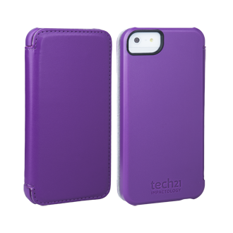 iPhone 5 D3O Impact Snap Case with Cover - Purple