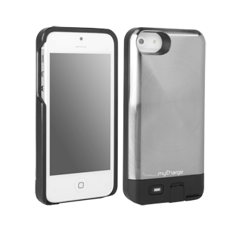 iPhone 5 myCharge Freedom 2000 Charging Case - Silver