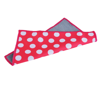 Microfiber Cleaning Cloth - Magenta Dots