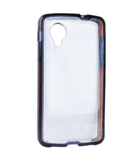 Google Nexus 5 Tech 21 Impact Snap Case - Clear with Black