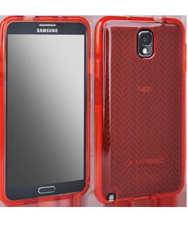 Samsung Galaxy Note 3 Tech 21 Impact Shell - Red Herringbone