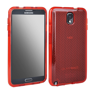 Samsung Galaxy Note 3 Tech 21 Impact Shell - Red Herringbone