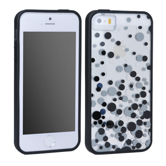 iPhone 5s Case Mate X-Doria Scene Plus Shell - Black Bubbles