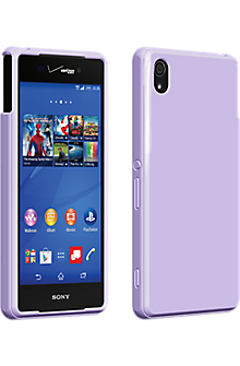 High Gloss Silicone Cover for Sony Xperia Z3v - Purple
