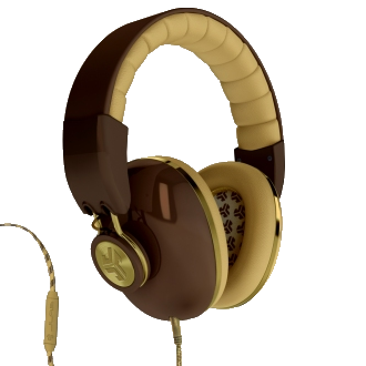 JLab Bombora Headphones - Brown and Gold
