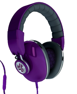 JLab Bombora Headphones - Purple & Grey