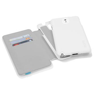 Samsung Galaxy Note 3 Incipio Wallet Case - White & Cyan