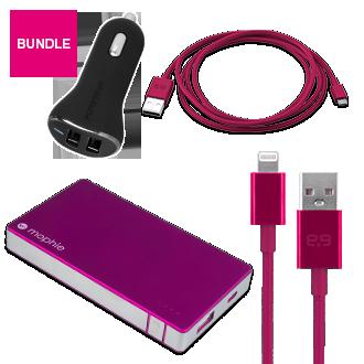 Travel Charging Bundle - Pink