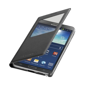 Samsung Galaxy Note 3 S-View Flip Cover - Black