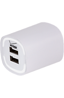 3.4A Travel Charger with Dual Output - White