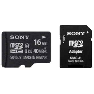 SONY microSDHC High Speed CL10 Memory Card - 16 GB
