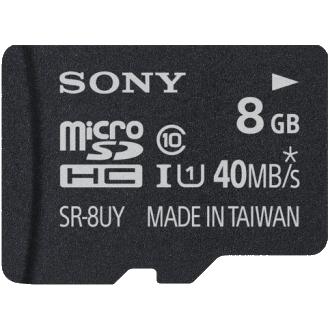 SONY microSDHC High Speed CL10 Memory Card - 8 GB