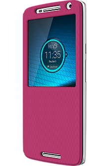Flip Shell Case for DROID Maxx 2 - Raspberry