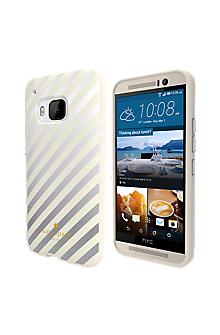 Flexible Hardshell Case for HTC One M9 - Diagonal Stripes